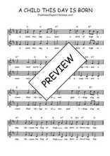 Téléchargez l'arrangement de la partition de Traditionnel-A-child-this-day-is-born en PDF à deux voix