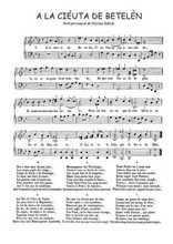 La partition gratuite de A la ciéuta de Betelèn