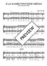 Téléchargez l'arrangement de la partition de martinique-a-la-claire-fontaine en PDF à deux voix
