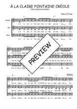 Téléchargez l'arrangement de la partition de martinique-a-la-claire-fontaine en PDF à trois voix