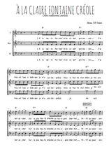 Téléchargez l'arrangement de la partition de martinique-a-la-claire-fontaine en PDF pour trois voix d'hommes