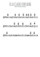 Téléchargez la partition pour saxophone en Mib de la musique a-la-claire-fontaine en PDF