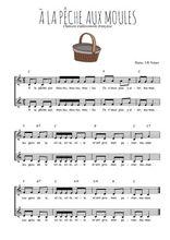 Téléchargez l'arrangement de la partition de Traditionnel-A-la-peche-aux-moules en PDF à deux voix