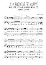 Téléchargez l'arrangement de la partition de Traditionnel-A-la-Rochelle-est-arrive en PDF à deux voix