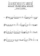 Téléchargez la partition pour saxophone en Mib de la musique Traditionnel-A-la-Rochelle-est-arrive en PDF