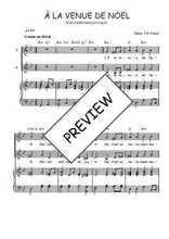 Téléchargez la partition de A la venue de Noël en PDF pour 2 voix égales et piano