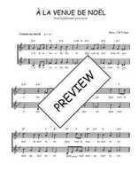 Téléchargez l'arrangement de la partition de Traditionnel-A-la-venue-de-Noel en PDF à deux voix