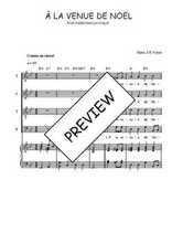 Téléchargez la partition de A la venue de Noël en PDF pour 4 voix SATB et piano