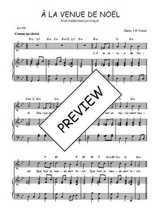 Téléchargez la partition de A la venue de Noël en PDF pour Chant et piano