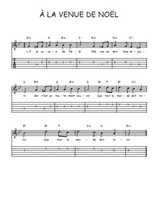 Téléchargez la tablature de la musique Traditionnel-A-la-venue-de-Noel en PDF