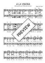 Téléchargez l'arrangement de la partition de Traditionnel-A-la-vibora en PDF à trois voix