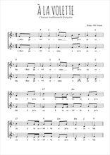 Téléchargez l'arrangement de la partition de Traditionnel-A-la-volette en PDF à deux voix