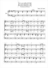 Téléchargez la partition de A la volette en PDF pour 3 voix SAB et piano