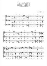Téléchargez l'arrangement de la partition de Traditionnel-A-la-volette en PDF à trois voix