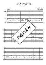 Téléchargez l'arrangement de la partition de Traditionnel-A-la-volette en PDF à quatre voix