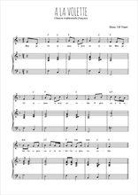Téléchargez la partition de A la volette en PDF pour Chant et piano