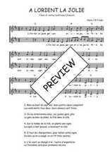 Téléchargez l'arrangement de la partition de Traditionnel-A-Lorient-la-jolie en PDF à deux voix