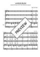 Téléchargez la partition de A run run en PDF pour 3 voix SAB et piano