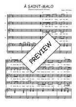 Téléchargez la partition de A Saint-Malo en PDF pour 4 voix SATB et piano