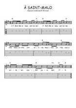 Téléchargez la tablature de la musique Traditionnel-A-Saint-Malo en PDF