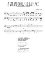 Téléchargez l'arrangement de la partition de Traditionnel-A-Strasbourg-sur-la-place en PDF à deux voix