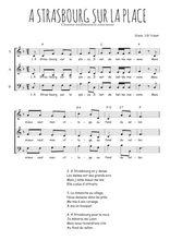 Téléchargez l'arrangement de la partition de Traditionnel-A-Strasbourg-sur-la-place en PDF à trois voix