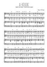 Téléchargez la partition de A-rovin' en PDF pour 2 voix égales et piano