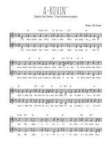 Téléchargez l'arrangement de la partition de Traditionnel-A-rovin- en PDF à deux voix