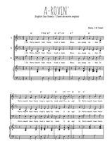 Téléchargez la partition de A-rovin' en PDF pour 3 voix SAB et piano