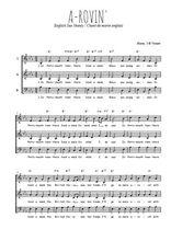 Téléchargez l'arrangement de la partition de Traditionnel-A-rovin- en PDF à trois voix