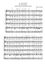 Téléchargez la partition de A-rovin' en PDF pour 4 voix SATB et piano