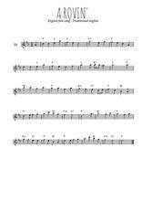 Téléchargez la partition pour saxophone en Mib de la musique Traditionnel-A-rovin- en PDF