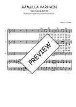 Téléchargez la partition de Aamulla varhain en PDF pour 3 voix SAB et piano