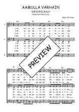 Téléchargez l'arrangement de la partition de Traditionnel-Aamulla-varhain en PDF à trois voix