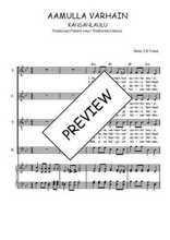 Téléchargez la partition de Aamulla varhain en PDF pour 4 voix SATB et piano