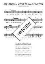 Téléchargez l'arrangement de la partition de Traditionnel-Abe-Lincoln-went-to-Washington en PDF à deux voix