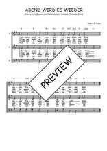 Téléchargez l'arrangement de la partition de Traditionnel-Abend-wird-es-wieder en PDF à trois voix
