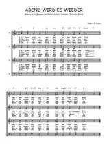 Téléchargez l'arrangement de la partition de Traditionnel-Abend-wird-es-wieder en PDF à quatre voix