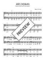 Téléchargez l'arrangement de la partition de Traditionnel-Abi-caiman en PDF à deux voix