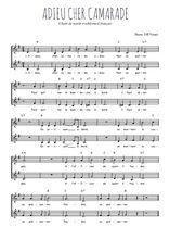 Téléchargez l'arrangement de la partition de Traditionnel-Adieu-cher-camarade en PDF à deux voix