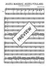 Téléchargez la partition de Adieu madras, adieu foulard en PDF pour 4 voix SATB et piano