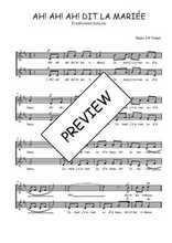 Téléchargez l'arrangement de la partition de Traditionnel-Ah!-ah!-ah!-dit-la-mariee en PDF à deux voix