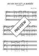 Téléchargez l'arrangement de la partition de Traditionnel-Ah!-ah!-ah!-dit-la-mariee en PDF à trois voix