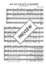 Téléchargez l'arrangement de la partition de Traditionnel-Ah!-ah!-ah!-dit-la-mariee en PDF à quatre voix