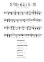 Téléchargez l'arrangement de la partition de Traditionnel-Ah-!-mon-beau-chateau en PDF à deux voix