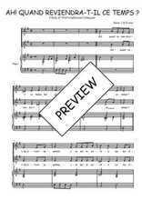 Téléchargez la partition de Ah! quand reviendra-t-il en PDF pour 2 voix égales et piano