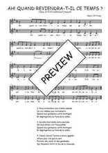 Téléchargez l'arrangement de la partition de Traditionnel-Ah!-quand-reviendra-t-il en PDF à deux voix