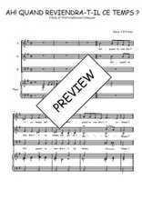 Téléchargez la partition de Ah! quand reviendra-t-il en PDF pour 3 voix SAB et piano