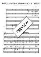 Téléchargez la partition de Ah! quand reviendra-t-il en PDF pour 4 voix SATB et piano