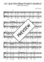 Téléchargez l'arrangement de la partition de Traditionnel-Ah-!-Que-nos-peres-etaient-heureux-! en PDF à deux voix